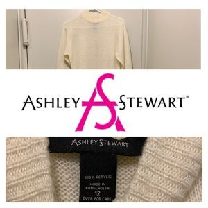 Ashley Stewart Off White Hi/Lo Sweater